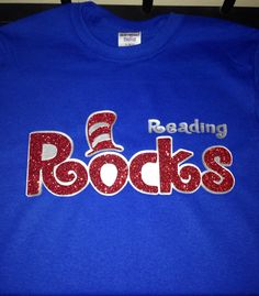 This shirt is perfect to wear to celebrate Dr. Seuss Day which is also Read Across America Day. The price does include red glitter. If you would