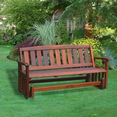 Great American Woos Red Cedar Mission Outdoor Glider Package With Optional Cushion
