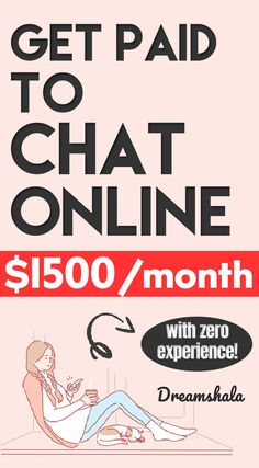 get paid to chat online. #chattingjobs #onlinechattingjobs #getpaidtochat Ways To Earn Money, Earn Money From Home, Earn Money Online, Way To Make Money, Online Jobs From Home, Work From Home Jobs, Online Work, Best Small Business Ideas, Make Money From Pinterest