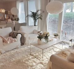 32 Top Tips of Cozy and Romantic Cottage Living Room Ideas - fancyhomedecors Cottage Living Rooms, Home Living Room, Apartment Living, Interior Design Living Room, Living Room Designs, Living Room Decor, Interior Decorating, Deco Design, Dream Decor