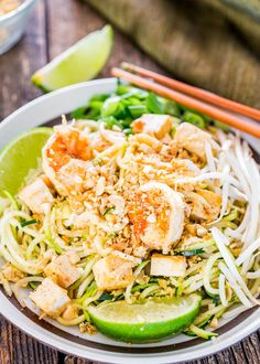 Pad Thai Zoodles - take your favorite Pad Thai recipe and make it healthier with oodles of zoodles instead of high carb noodles.