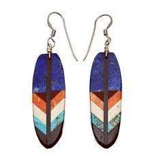 Boucles d'oreilles Navajo Kachina en argent. | Harpo Paris #bouclesdoreilles #turquoise