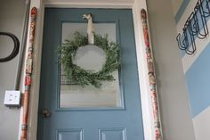 Frame out a door with old fence posts!  www.thedempsterlogbook.com