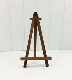 Display Your Miniature Art On This Small Rustic Brown 6 5 Inch Tabletop Easel Also Great