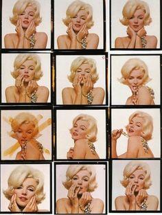 Marilyn Monroe by Bert Stern, Contact Sheet
