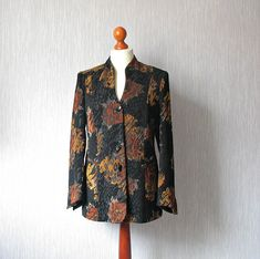 #Spring #jacket with decorative buttons Size M/L Classic Style