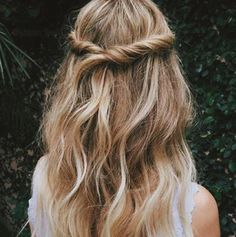 #peinados #boho #chic #semirecogido #faciles #sencillos #lindos #femeninos