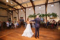 First dance as newlyweds in the Granary at Pippin Hill Farm and Vineyards in Charlottesville, Va Virginia Wineries, Charlottesville Va, Blue Ridge Mountains, Summer Weddings, First Dance, Wine Country, Farm Wedding, Newlyweds, Vineyard