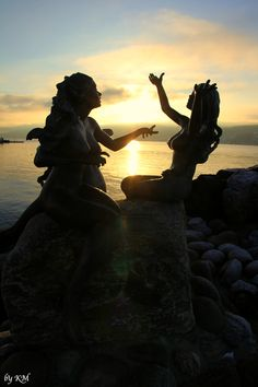 """The Little Mermaid"" at sunset - Drøbak, Norway  ~"