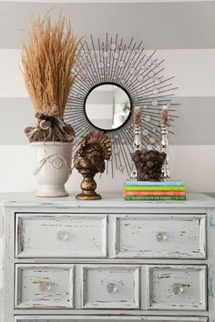 House of Turquoise: Shanna LeRoy & Ashley Russel- Gold turkey Chic Decor, Decor, Shabby Chic Dresser, Refinishing Furniture, Furniture, Fall Decor, Home Decor, Shabby Chic Furniture, Chic Furniture