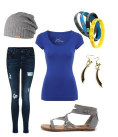 Über casual by elenore64 on Polyvore featuring polyvore, fashion, style, Jane Norman, Breckelle's and Barts