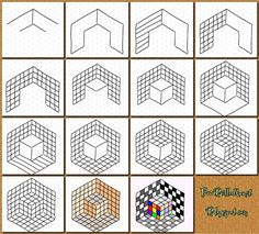 How to draw cube illusion using isometric grid