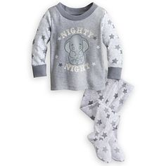 """Adorable"" Dumbo Footed PJ Pal for Baby"