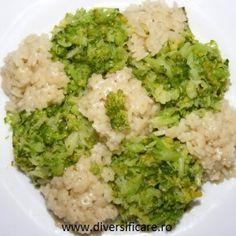 Paste cu broccoli (de la 10 luni) Thing 1, Paste, Baby Food Recipes, Broccoli, Risotto, Cauliflower, Picnic, Vegetables, Ethnic Recipes