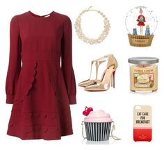 """""""Let them eat cake"""" by tisha-neuber-mitchell on Polyvore featuring RED Valentino, Lanvin, Christian Louboutin, Kate Spade and Yankee Candle"""