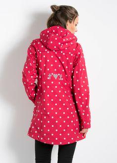wild weather long anorak, raspberry dots (blutsgeschwister)