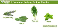 4 Seasoning Herbs to Relieve Bloating  more info- > http://shuddhcoloncare.com #RelieveBloating #BloatingTreatment #colon #ColonCare
