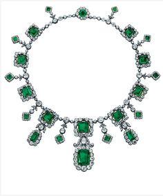 Collana di smeraldi della duchessa d'Aosta Elena d'Orleans