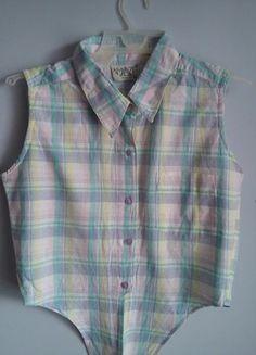 Kup mój przedmiot na #vintedpl http://www.vinted.pl/damska-odziez/koszulki-na-ramiaczkach-koszulki-bez-rekawow/13614017-krotka-zawiazywana-wielobarwna-koszulka-bez-rekawow