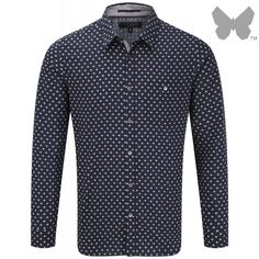 Ted Baker Men's Cross Print Shirt - Navy With modern design detail and a stylish edge, this smart shirt is a great addition to your formal wardrobe. Country Attire, Mens Designer Shirts, Navy Man, Mens Crosses, Printed Shirts, Ted Baker, Shirt Designs, Shirt Dress, Stylish