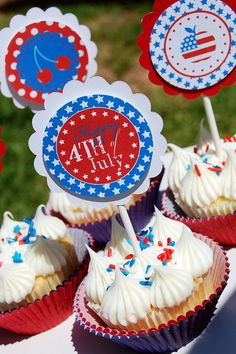 Free 4th of July Printable Party Circles