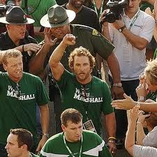 Marshall fan Matthew McConaughey