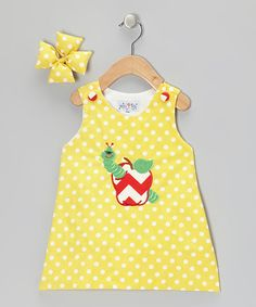 Take a look at this Yellow Worm Jumper & Bow Clip - Infant, Toddler & Girls by Molly Pop Inc. on #zulily today!