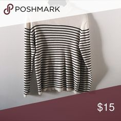 Adorable striped mock neck sweater Perfect for the fall winter seasons! Sweaters Cowl & Turtlenecks