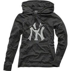 New York Yankees Women's Retreat Hooded Long Sleeve Tri-Blend Shirt