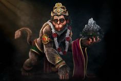 This is a personal piece I made in a series of Hindu Gods. I tried to depict a different version of Hanuman from how he is normally portrayed. In this version, Hanuman is much older, and reflective of his life or servitude. Hanuman Pics, Hanuman Chalisa, Hanuman Images, Angel Sketch, Hanuman Wallpaper, Monkey King, Durga Goddess, God Pictures, Hindu Art