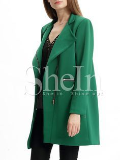 Shop Green Long Sleeve Lapel Pockets Coat online. SheIn offers Green Long Sleeve Lapel Pockets Coat & more to fit your fashionable needs.