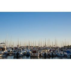 Posterazzi Boats In Alcudias Port Mallorca Balearic Islands Spain Canvas Art - Dosfotos Design Pics (38 x 24)