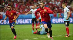 Alvaro Morata von Juventus Turin schoss die Türkei mit zwei Buden ab