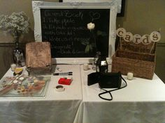 polaroid cameras and lots of film for guestbook photos - guests decorate their page... cool idea!