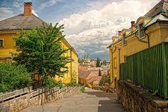 Eger lépcsősor a Széchenyi út felé Hungary