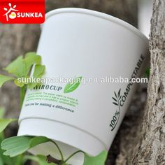 compostable paper cup with bioplastic lining, View paper up, paper cup with… Cup Design, Food Containers, Compost, Biodegradable Products, Coffee Cups, The 100, Bee, Packaging, Range
