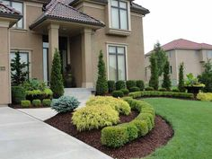 Steal these cheap and easy landscaping ideas​ for a beautiful backyard. Get our best landscaping ideas for your backyard and front yard, including landscaping design, garden ideas, flowers, and garden design. Boxwood Landscaping, Residential Landscaping, Small Front Yard Landscaping, Front Yard Design, Landscaping With Rocks, Backyard Landscaping, Landscaping Design, Big Backyard, Luxury Landscaping