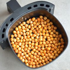 Air Fried Spicy Roasted Chickpeas are a delicious, easy appetizer for entertaining and are perfect for homemade gifts. The best healthy snack just got even better and we are Air-frying them and You only Air Fryer Dinner Recipes, Air Fryer Oven Recipes, Chickpea Recipes, Vegan Recipes, Cooking Recipes, Fish Recipes, Tofu, Air Frier Recipes, Meal Plans To Lose Weight