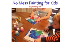 This is a no mess painting activity that kids will LOVE!
