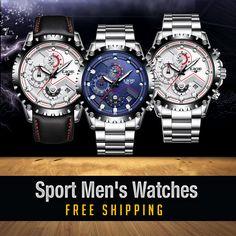 Fashion Sport Quartz Watch Men Sport Man, Quartz Watch, Watches For Men, Sports, Accessories, Fashion, Hs Sports, Moda, Men's Watches