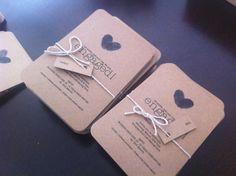 Kraft Brown Paper Wedding Engagement Invitation Custom Made to Order Invitation