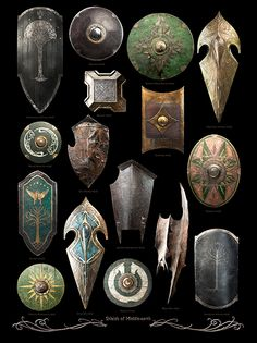 ~ Shields Of Middle Earth ~ LOTR ~ Armour