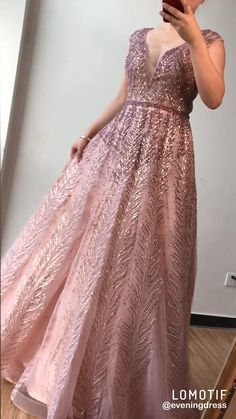 Luxury Design V-Neck Sequined Evening Dresses(Pink/Grey/Black/Navy Blue/Wine Red).**Rush order please contact us ** Processing time business days after payment . Source by dresses videos The Dress, Pink Dress, Pretty Dresses, Beautiful Dresses, Party Wear, Party Dress, Looks Party, Evening Dresses, Prom Dresses