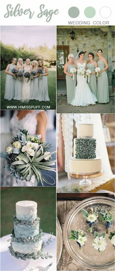 silver sage green wedding color trends for 2019 # weddings # wedding colors # wedding . Wedding Bouquets, Wedding Flowers, Wedding Day, Rustic Wedding, Dream Wedding, Wedding Vows, Trendy Wedding, Wedding Table, Wedding Engagement