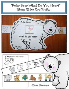 "Sequencing ""Polar Bear What Do You See?"" Story Slider Craftivity"