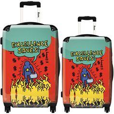 Ikase Hardside Spinner Luggage Keith Haring Doubles black /& white