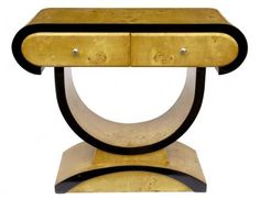 Walnut 1920s Console Table Art Deco Tables Chest Furniture