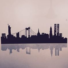 New York Skyline Tattoo … Ny Skyline Tattoo, Nyc Skyline, Skyline Art, New York Tattoo, Nyc Tattoo, Band Tattoo, New York Skyline Silhouette, New York Drawing, New York Landmarks