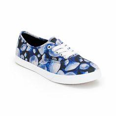 Vans Girls Authentic Lo Pro Digi Jellyfish Black & White Shoe