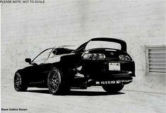 1994 Toyota Supra (REAR) -  Wall Art Sticker